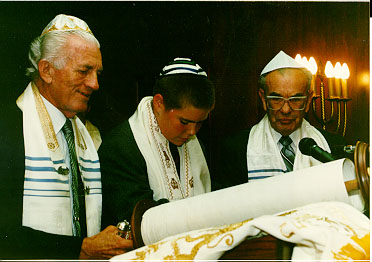 A Bar Mitzvah ceremony in Beckley, 1994